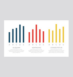 set dark blue and red yellow elements for info vector image