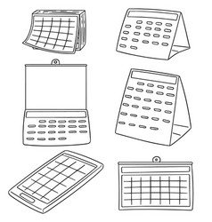 set of calendar vector image