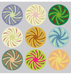 Set of colored circles vector