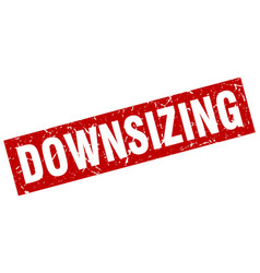 square grunge red downsizing stamp vector image