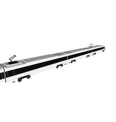 Subway train isolated flat vector