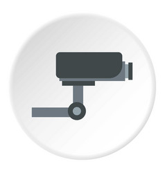 surveillance camera icon circle vector image