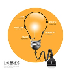 Technology infographic plug line idea innovation vector