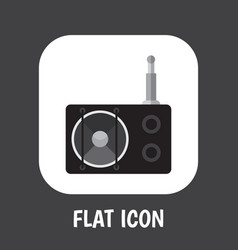 technology symbol on radio vector image