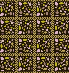 The pattern of colored stones vector image