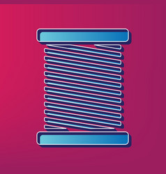 thread sign blue 3d printed vector image