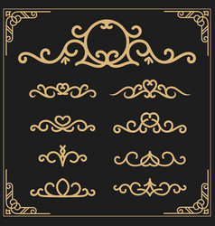 vintage flourishes vine frame and luxurious vector image