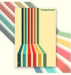 Vintage stripes interior poster vector