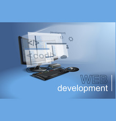 web development of applications and programs vector image