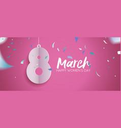 womens day 2018 fun celebration banner design vector image