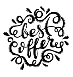 Best offer hand drawn lettering vector image