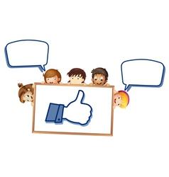 Cartoon Boy Like Thumb vector image vector image