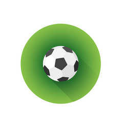 flat color soccer ball vector image vector image