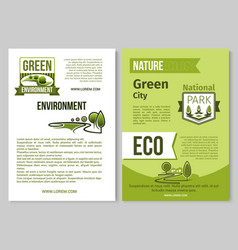green nature poster of eco environment vector image vector image