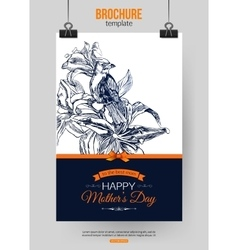 Happy Mothers Day Typographical Background vector image vector image