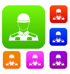 soldier set collection vector image