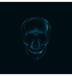 A human skull x-ray print medical conce vector