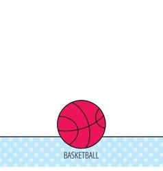 Basketball icon Sport ball sign vector image vector image
