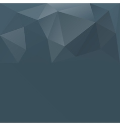 Gray blue abstract polygonal background vector image