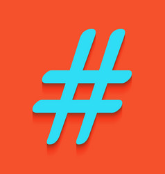 hashtag sign whitish icon on vector image vector image