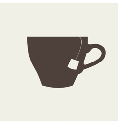 icon of brown cup on beige background vector image vector image
