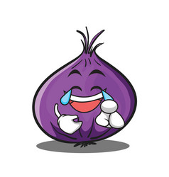 joy red onion character cartoon vector image vector image