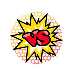 versus fight emblem in cartoon style vector image vector image