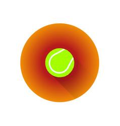 flat color tennis ball vector image