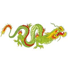 green dragon vector image
