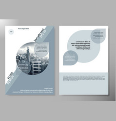 minimal flyers report business magazine poster vector image