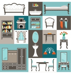 Set furniture vector image