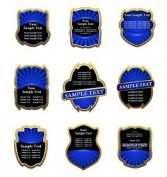 set of blue vintage labels vector image vector image