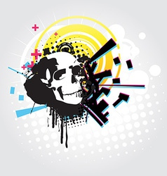 Abstract skull art vector image
