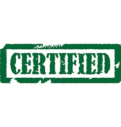 Certified stamp vector image