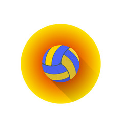 flat color volleyball ball vector image vector image