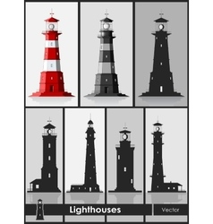Lighthouses Set of huge lighthouses vector image vector image