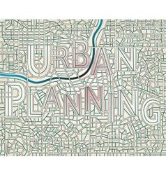 urban planning vector image vector image