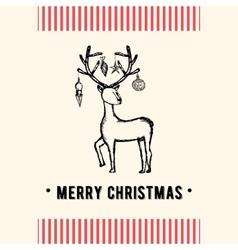 Vintage Christmas greeting card Christmas card vector image vector image