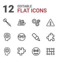 12 idea icons vector