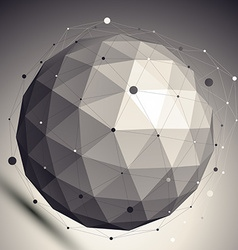 3D abstract design undertone template spherical vector