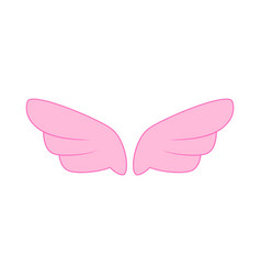 A pair of pink wings icon simple style vector image