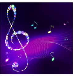 Abstract background with music notes vector image