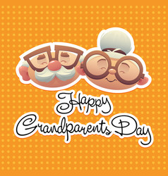 abstract grandparents day background with special vector image