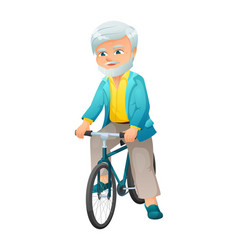an old active man vector image