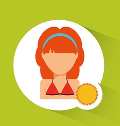 avatar icon beach vector image