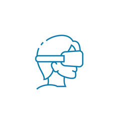 Blindfold games linear icon concept blindfold vector