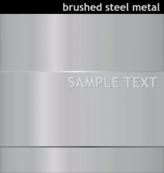 brushed steel background vector image
