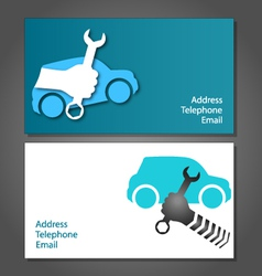 Business card for auto repair vector