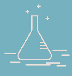Chemical conical flask line icon vector