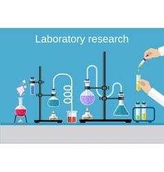 Chemists scientists equipment vector image